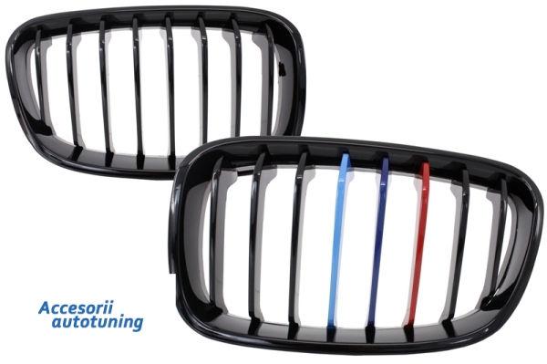 Parrilla rejilla delantera para BMW 1 Series F20 F21 (2011-2014) M-Power 3 Color Design Piano Negra