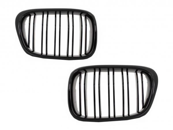 Parrilla rejilla delantera para BMW E39 5 Series (1997-2003) Double Stripe M Design Piano Negra