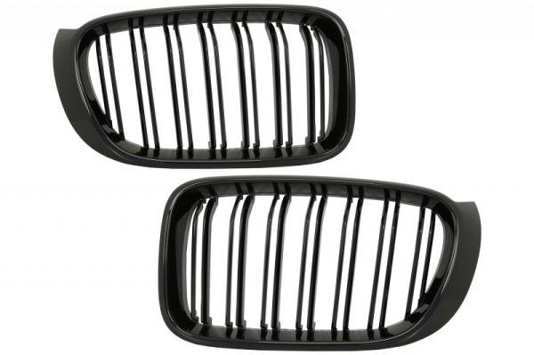 Parrilla rejilla delantera para BMW X3 F25 LCI (2014-2017) X4 F26 Double Stripe M Design Piano Negra