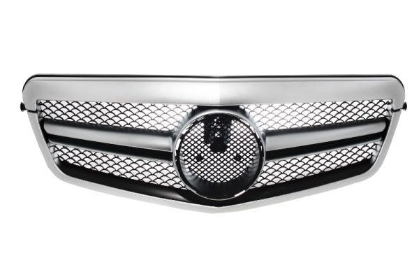 Parrilla rejilla delantera para MERCEDES E Class W212 S212 (2009-2013) Facelift Single Stripe Design Silver Aluminum