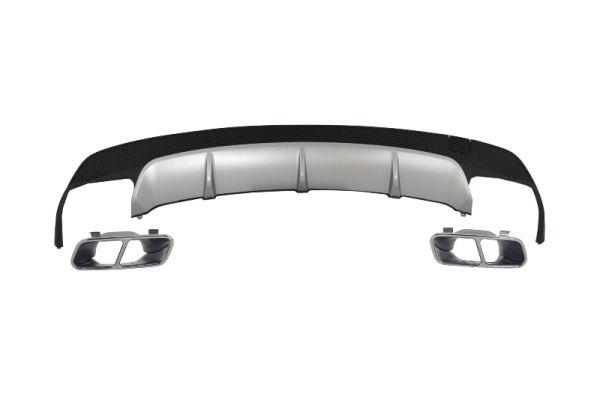 Difusor parachoques trasero deportivo para Mercedes W117 CLA 2013-> Sport Pack Exhaust Tips