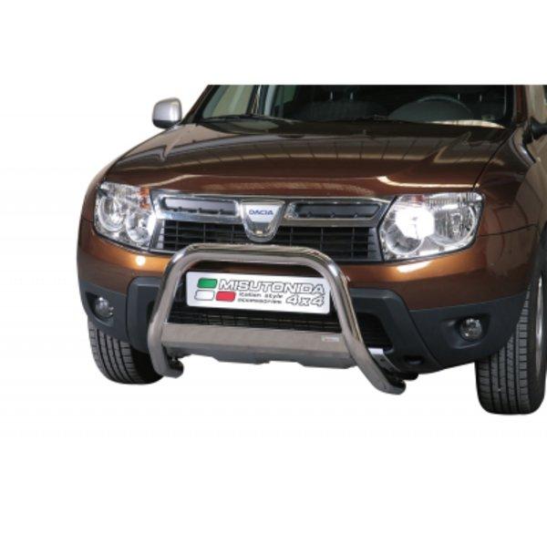 Defensa delantera barras en Acero Inoxidable Dacia Duster Diametro 63 Homologada