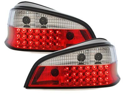 Pilotos faros traseros LED Peugeot 106 96-99 rojo/cristal