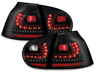 LITEC Pilotos faros traseros LED VW Golf V 03-09 negro