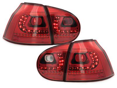 LITEC Pilotos faros traseros LED VW Golf V 03-09 rojo/cristal