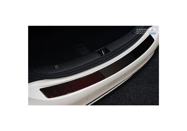 Protector Parachoques en Acero Inoxidable Mercedes Cls (c218) 2014- Look Fibra Carbono Rojo-negro