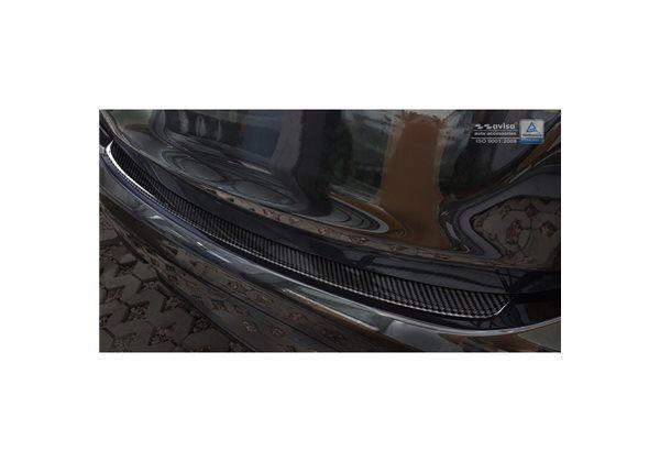 Protector Parachoques en Acero Inoxidable Mercedes Clase E W213 Sedan 2016- Look Fibra Carbono Negro