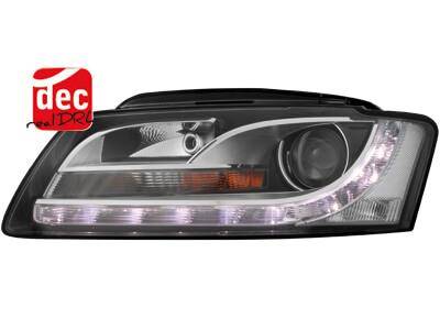 Dectane Faros Delanteros Luz Diurna Negros para Audi A5