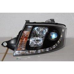 Faros Delanteros Luz De Dia Audi Tt 99-05 Black 12pin H7-h1