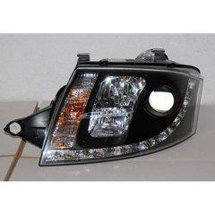 Faros Delanteros Luz Dia Real Audi Tt 99-05 Black 10pins H7-h1