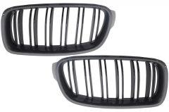 Parrilla rejilla delantera para BMW F30 F31 Double Piano Negra Stripe M Design