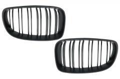 Parrilla rejilla delantera para BMW 1 Series E81 E82 E87 E88 M1 M (2007-2011) LCI Double Stripe M Design Matt Negra