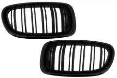Parrilla rejilla delantera para BMW F10 5 Series (2010-up) Double Stripe M Design Piano Negra