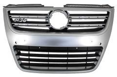 Parrilla rejilla delantera para VW Passat 3C 2007-2010 R36 R36 OEM Bumper Silver Aluminium Look