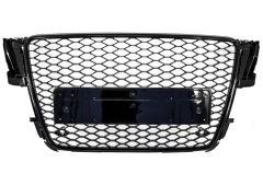 Parrilla rejilla delantera para AUDI A5 8T (2008-2011) RS5 Design Badgeless Piano Negra