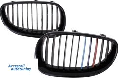 Parrilla rejilla delantera para BMW 5 Series E60 E61 Sedan Touring (2003-2009) Piano Negra 3 Colors M-Power Design