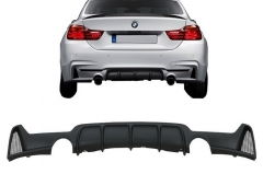 Difusor parachoques trasero deportivo para Bmw 4 Series F32 F33 F36 (2013-) Coupe Cabrio M Performance Look Twin Single Outlet