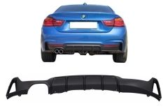 Difusor parachoques trasero deportivo para Bmw F32 F33 F36 (2013-) Coupe Cabrio 4 Series M Performance Look Left Double Outlet