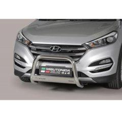 Defensa delantera barras en Acero Inoxidable Hyundai Tucson 15- - Diametro 63mm - Homologacion Ce