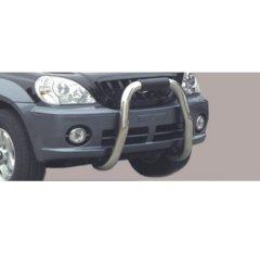 Defensa delantera barras en Acero Inoxidable Hyundai Terracan 01/04