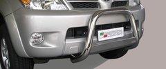 Defensa delantera barras en Acero Inoxidable Toyota Hi Lux 06/11 Diametro 63 Homologada