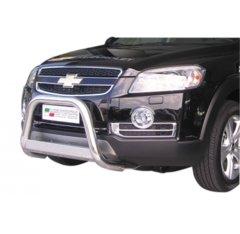 Defensa delantera barras en Acero Inoxidable Chevrolet Captiva 06-10 Diametro 63 Homologada