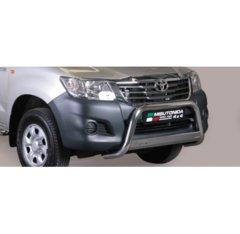 Defensa delantera barras en Acero Inoxidable Toyota Hi Lux 11- Diametro 63 Homologada