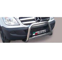 Defensa delantera barras en Acero Inoxidable Mercedes Sprinter Diametro 63 Homologada 2007-2012