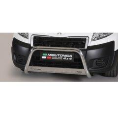 Defensa delantera barras en Acero Inoxidable Homologacion Ec Peugeot Expert 2006-2015 Medium Bar Acero Inox Diametro 63