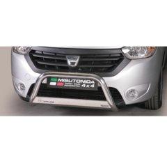 Defensa delantera barras en Acero Inoxidable Homologacion Ec Dacia Dokker Medium Bar Acero Inox Diametro 63