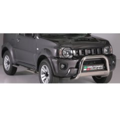 Defensa delantera barras en Acero Inoxidable Homologacion Ec Suzuki Jimny 12- Medium Bar Acero Inox Diametro 63
