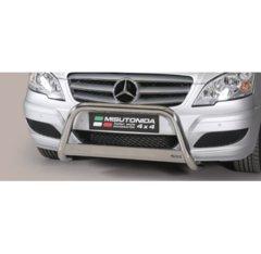 Defensa delantera barras en Acero Inoxidable Homologacion Ec Mercedes Vito/viano 10- Medium Bar Acero Inox Diametro 63