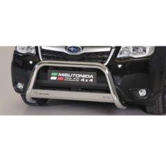 Defensa delantera barras en Acero Inoxidable Homologacion Ec Subaru Forester 13- Medium Bar Acero Inox Diametro 63