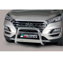 Defensa delantera barras en acero inoxidable Hyundai Tucson 2018- O 63 Homologada - Ec Bar