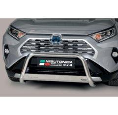 Defensa delantera barras en acero inoxidable Toyota Rav 4/hybrid 2019- O 63 Homologada - Ec Bar
