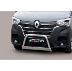 Defensa delantera barras en acero inoxidable Renault Master 2019- O 63 Homologada - Ec Bar