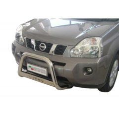 Defensa delantera barras en Acero Inoxidable Nissan X-trail 07/10 Diametro 63 Homologada