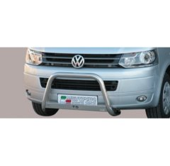 Defensa delantera barras en Acero Inoxidable Vw T5 '10- Diametro 63 Homologada