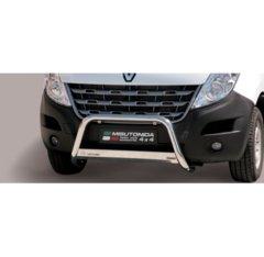 Defensa delantera barras en Acero Inoxidable Homologacion Ec Renault Master 10- Medium Bar Acero Inox Diametro 63