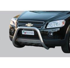 Defensa delantera barras en Acero Inoxidable Chevrolet Captiva 06-10 Diametro 76 Homologada