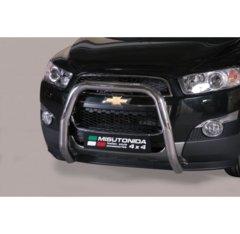 Defensa delantera barras en Acero Inoxidable Chevrolet Captiva 11- Diametro 76 Homologada