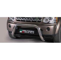 Defensa delantera barras en Acero Inoxidable Land Rover Discovery 4 Diametro 76 Homologada