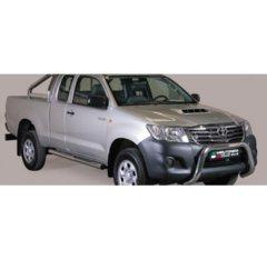 Defensa delantera barras en Acero Inoxidable Toyota Hi Lux 11- Diametro 76 Homologada