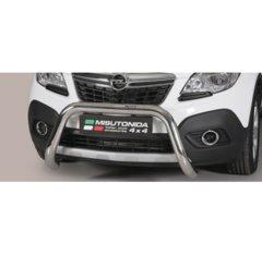 Defensa delantera barras en Acero Inoxidable Homologacion Ec Opel Mokka Super Bar Acero Inox Diametro 76
