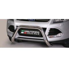 Defensa delantera barras en Acero Inoxidable Homologacion Ec Ford Kuga 13- Super Bar Acero Inox Diametro 76