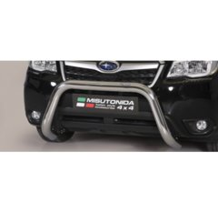 Defensa delantera barras en Acero Inoxidable Homologacion Ec Subaru Forester 13- Super Bar Acero Inox Diametro 76