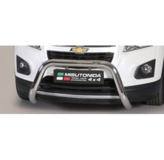 Defensa delantera barras en Acero Inoxidable Homologacion Ec Chevrolet Trax 13- Super Bar Acero Inox Diametro 76