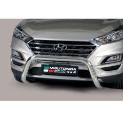 Defensa delantera barras en acero inoxidable Hyundai Tucson 2018- O 76 Homologada - Ec Bar