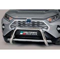 Defensa delantera barras en acero inoxidable Toyota Rav 4/hybrid 2019- O 76 Homologada - Ec Bar