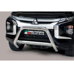 Defensa delantera barras en acero inoxidable Mitsubishi L200 D.c./club Cab 2019- O 76 Homologada - Ec Bar